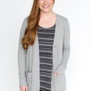 Light Grey Essential Cardigan Agnes & Dora XS